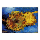 Van Gogh Two Cut Sunflowers Poster