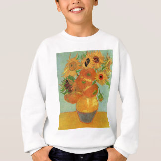 Van Gogh Vase with 12 Sunflowers, Flowers Fine Art Sweatshirt