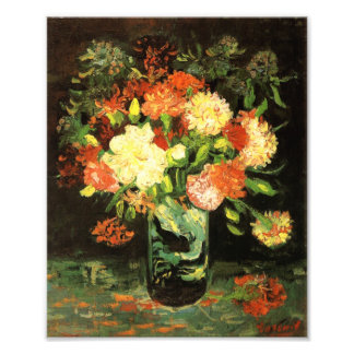 Van Gogh Vase with Carnations Print Photograph