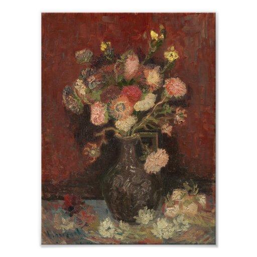 Van Gogh - Vase with Chinese asters and gladioli Photo Print