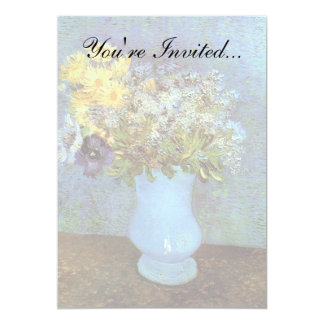 Van Gogh - Vase With Lilacs, Daisies And Anemones 13 Cm X 18 Cm Invitation Card