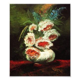 Van Gogh Vase with Peonies Print Photo Print