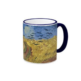 Van Gogh Wheatfield with Crows F779 Fine Art Coffee Mug