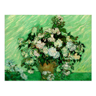 Van Gogh - White Roses Postcard
