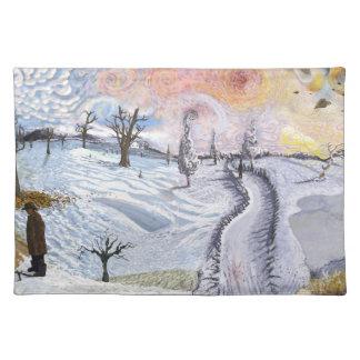Van Gogh: Winter Landscape Placemat