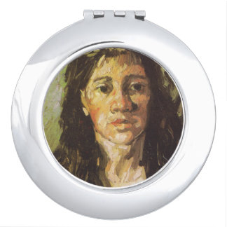 Van Gogh | Woman with her Hair Loose Compact Mirrors