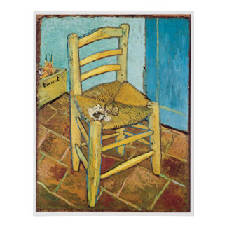 Van Gogh's Chair by Vincent van Gogh Poster