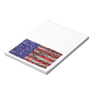Van Gogh's Flag of the United States Notepad