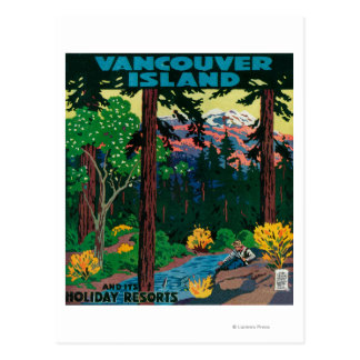 Vancouver Island Advertising Poster Postcard
