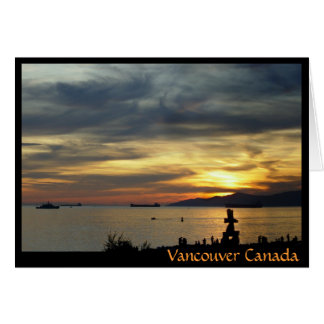 Vancouver Souvenir Cards Inukshuk Landscape Cards