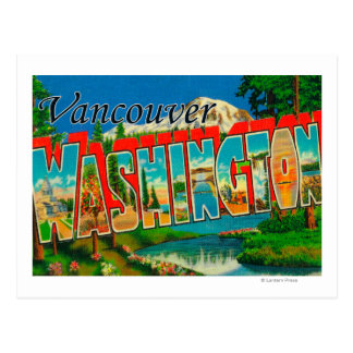 Vancouver, Washington - Large Letter Scenes Postcard