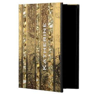 Vanderush Elegant Gold Striped Cover For iPad Air
