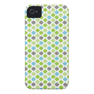 Vanessa Stripes in green blue and grey iPhone 4 Case-Mate Case