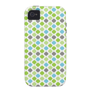 Vanessa Stripes in green blue and grey iPhone 4/4S Covers
