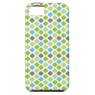 Vanessa Stripes in green blue and grey iPhone 5/5S Cover