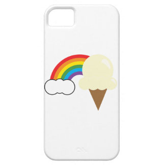 Vanilla Ice Cream and Rainbow Barely There iPhone 5 Case