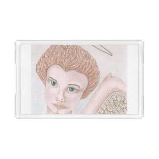 Vanity tray with 'Green-eyed Angel' image