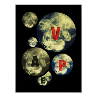 Vape Circle Smoke Clouds Poster