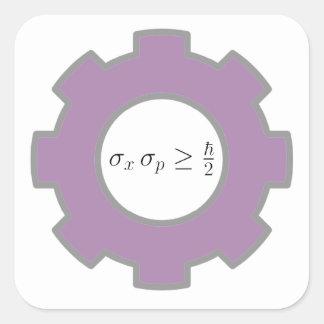 various, yo soy un mecánico cuántico, uncertainty square sticker