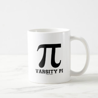 Varsity Pi (Pi Mathematical Constant) Basic White Mug