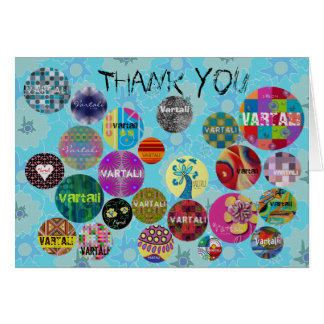 Vartali Thank You Card 8 Blue