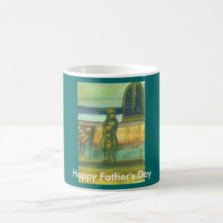 Vase By Table, Happy Father's Day Coffee Mug