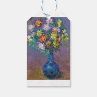 Vase of Chrysanthemums Claude Monet Gift Tags