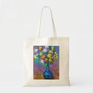 Vase of Chrysanthemums Claude Monet painting Tote Bag