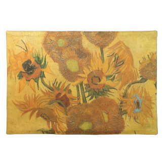Vase with 15 Sunflowers by Vincent van Gogh Placemat