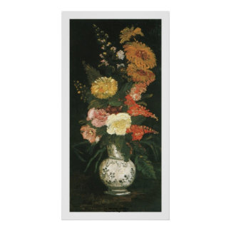 Vase with Aster and Silva by Vincent van Gogh Poster