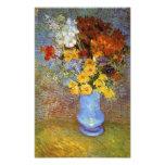 Vase with daisies and anemones - Van Gogh Art Photo