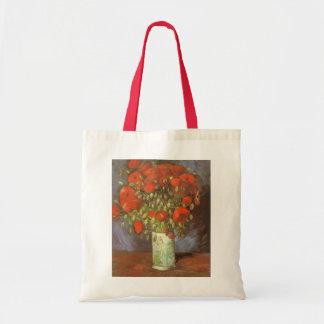Vase with Red Poppies by Van Gogh Vintage Flowers Canvas Bag