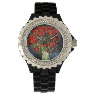 Vase with Red Poppies, Vincent van Gogh Wrist Watch
