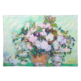 Vase with Roses by Vincent Van Gogh Placemat