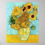 Vase With Twelve Sunflowers By Vincent Van Gogh Poster