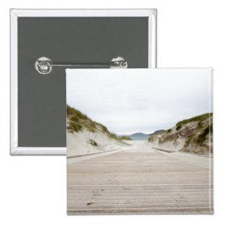 Vatersay Beach 15 Cm Square Badge