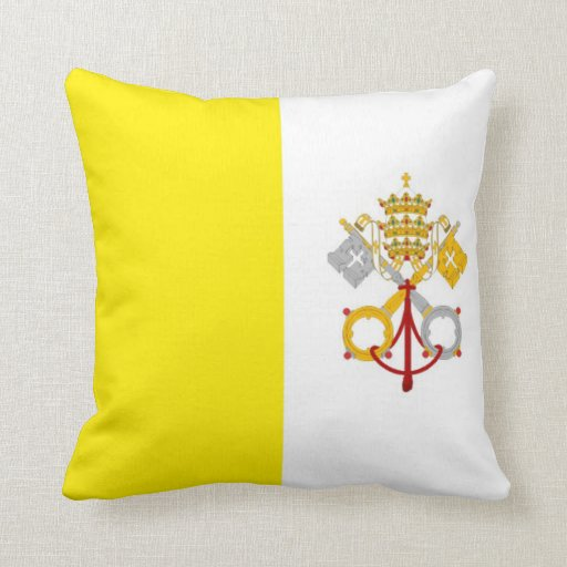 vatican city country flag pillow holy church god
