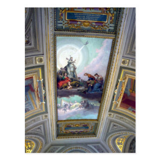 Vatican Museum Ceiling in Rome, Italy Postcard