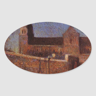 Vaugirard church by Paul Gauguin Oval Sticker