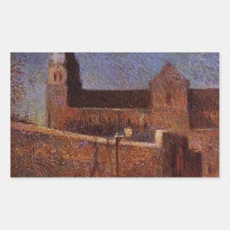 Vaugirard church by Paul Gauguin Rectangular Sticker