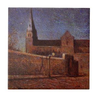 Vaugirard church by Paul Gauguin Small Square Tile