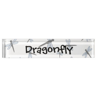 Vector Dragonfly Collage Name Plate