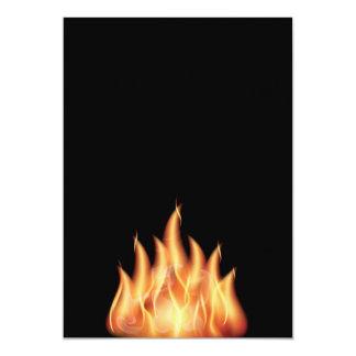 "vector-flames1- HOT FIRE FLAMES BURING BLACK ORANG 5"" X 7"" Invitation Card"