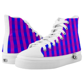 Vector purple and blue checked pattern high tops