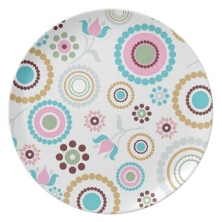 Vector Retro Pattern Background jpg Dinner Plates