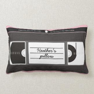 Vectorized Vanity Videotape Lumbar Cushion