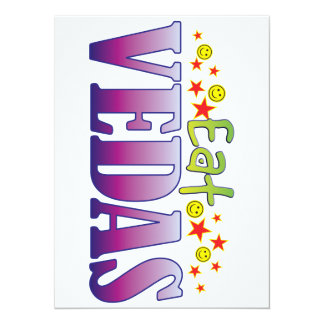 Vedas Eat 14 Cm X 19 Cm Invitation Card