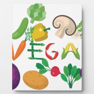 vegan 2 plaque