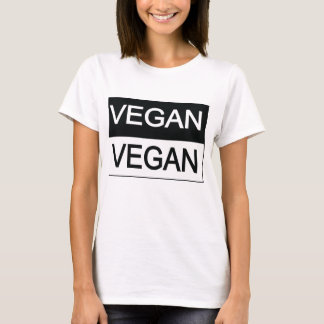 Vegan Black and White T-Shirt