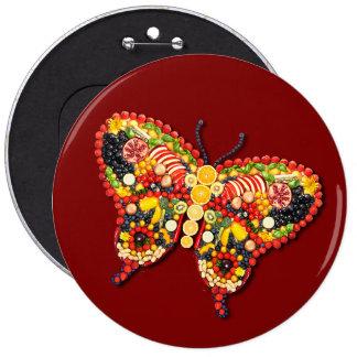 VEGAN Butterfly 6 Cm Round Badge